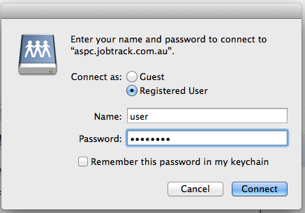 Enter your user name password
